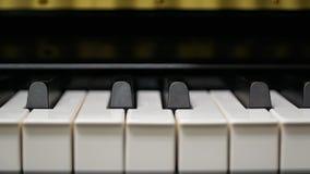 Klaviertastatur mit Nahaufnahmeschuß lizenzfreie stockfotografie