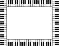 Klaviertastaturgrenze Stockbilder