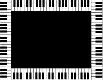 Klaviertastaturgrenze Stockbild