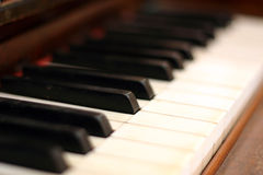 Klaviertasten lizenzfreie stockbilder