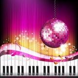 Klaviertasten und und musikalische Anmerkungen Stockbilder