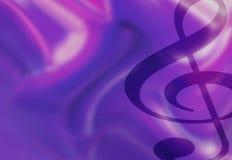 klavillustrationmusik bemärker treble Royaltyfria Bilder