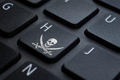Klawiatura hacker ikona w kluczu obraz royalty free