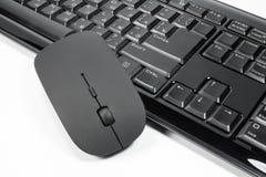 Klawiatura i mysz na białym tle Obrazy Stock