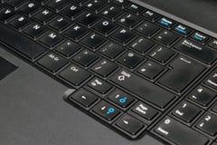 klawiatura komputera czarna Zdjęcia Stock