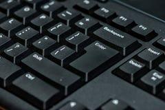 klawiatura komputera czarna Obraz Stock