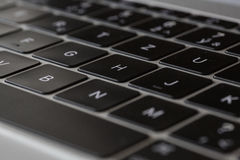 Klawiatura - MacBook 12' srebra 1st gen Obrazy Royalty Free