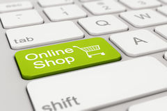 Klawiatura - online sklep - zieleń ilustracja wektor