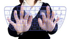 klawiatura przejrzysta Obrazy Stock