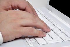 klawiatura ręce obrazy stock