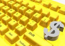 klawiatura robi pieniądze symbolowi Zdjęcia Stock