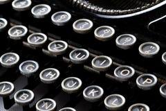 Klawiatura rocznika maszyna do pisania fotografia stock