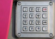 klawiatura telefonu ze stali nierdzewnej Fotografia Stock