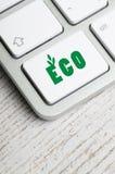 Klawiatura z Eco guzikiem zdjęcie stock