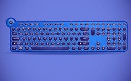Klawiatura z maszyną do pisania zapina w nowożytnej interpretacji ilustracji