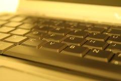 klawiatura złota Obrazy Stock