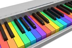 klawiaturowa fortepianowa tęcza Zdjęcie Royalty Free