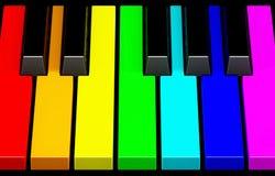 klawiaturowa fortepianowa tęcza Obraz Stock