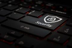 Klawiaturowa whit klucza ochrona zdjęcia stock
