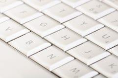 klawiaturowy biel Obraz Stock
