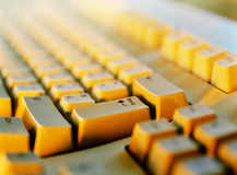 Klawiaturowy komputer Wchodzić do Fotografia Stock