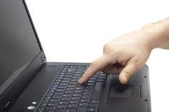 klawiaturowy laptop Zdjęcie Stock