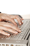 klawiaturowy laptop Obraz Royalty Free