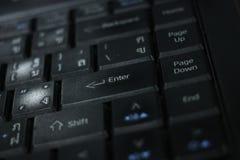 Klawiaturowy laptop Fotografia Stock