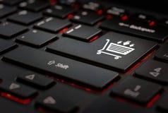Klawiaturowy whit klucza ecommerce obrazy royalty free