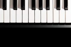 klawiaturowy zamknięty klawiaturowy pianino Zdjęcie Royalty Free