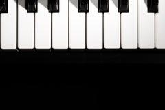 klawiaturowy zamknięty klawiaturowy pianino Zdjęcia Royalty Free