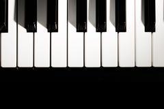 klawiaturowy zamknięty klawiaturowy pianino Obrazy Royalty Free
