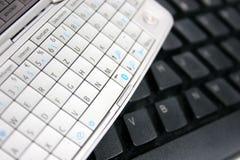 klawiatury komputerowej klawiatury komórkę Obrazy Royalty Free