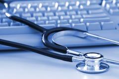 klawiatury komputerowej stetoskop Zdjęcie Royalty Free