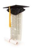 klawiatury mortarboard czarny komputerowych zdjęcia royalty free