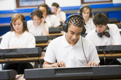 klawiatury muzyki uczniów klasy Obraz Royalty Free