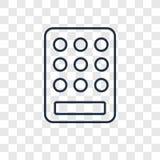 Klawiatury pojęcia wektorowa liniowa ikona odizolowywająca na przejrzystym backgr royalty ilustracja