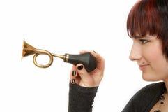 женщина klaxon Стоковое Изображение RF