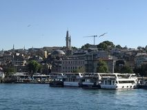 Klaxon d'or - Istanbul images stock