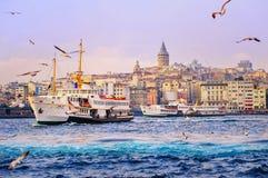 Klaxon d'or, Istanbul, Turquie Photos stock