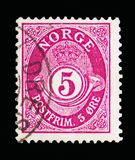 Klaxon de courrier, serie, vers 1922 Photo libre de droits