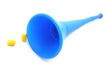 Klaxon et boules quies de Vuvuzela Photographie stock