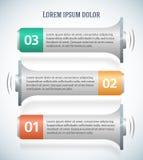 Klaxon-horizontal-bannière-annonce-publicité-tract Images stock