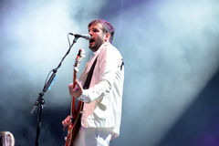 Klaxons (new rave indie rock band) concert at FIB Festival Stock Images