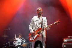 Klaxons (new rave indie rock band) concert at FIB Festival Royalty Free Stock Images