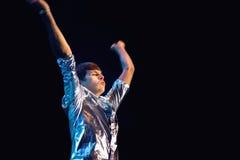 Klaxons Performing Live Royalty Free Stock Image