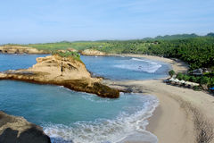 Klayar beach pacitan indonesia. Klayar Beach is located approximately 45 miles west of Pacitan city, precisely in the sub-district Donorojo, Pacitan district and royalty free stock photo