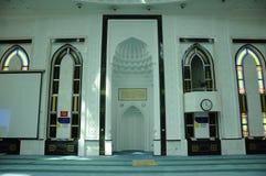 KLCC清真寺内部或Syakirin清真寺在吉隆坡 库存图片