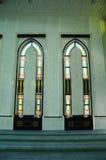 KLCC清真寺内部或Syakirin清真寺在吉隆坡 免版税库存图片