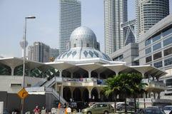 KLCC清真寺或Syakirin清真寺在吉隆坡 免版税库存图片